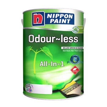 sơn nội thất nippon odour-less deluxe all-1